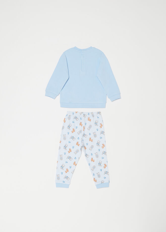 Cotton pyjamas with print and pattern