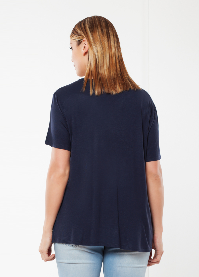 Curvy T-shirt with sequins image number null