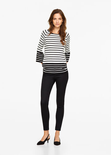 Pullover tricot stretch a righe