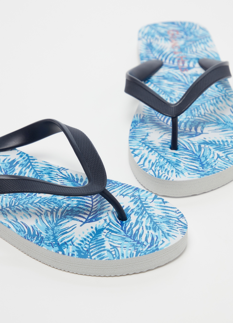 Thong sandals with palms pattern image number null