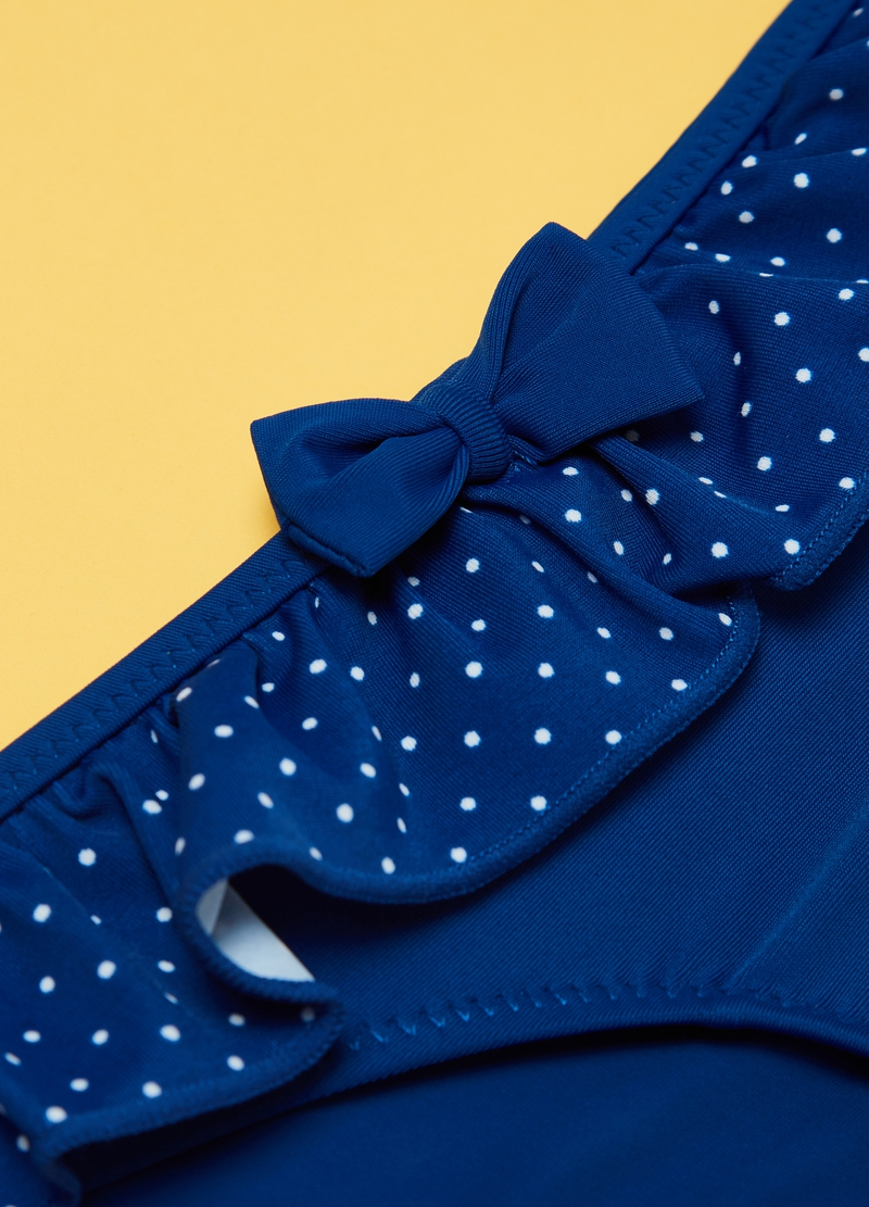 Costume slip con rouche a pois image number null