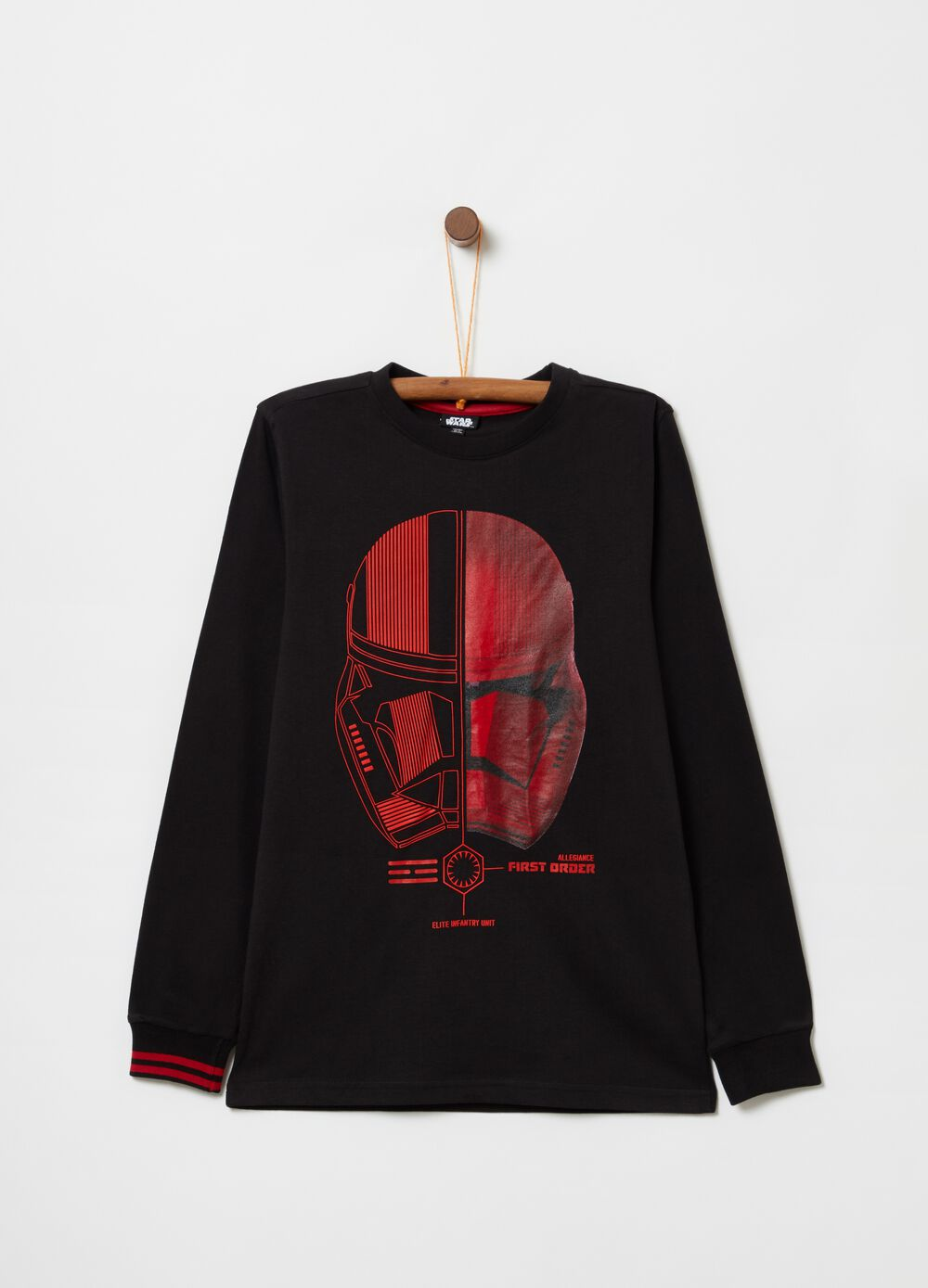 Solid colour T-shirt with Star Wars print
