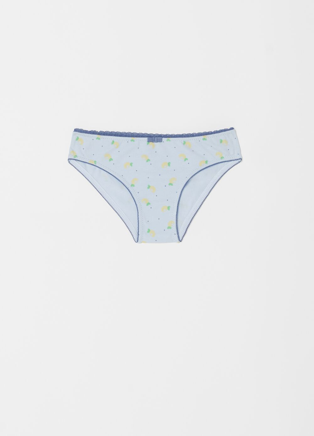 Biocotton briefs with pattern