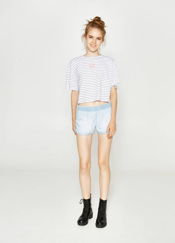 Shorts regular fit in puro cotone