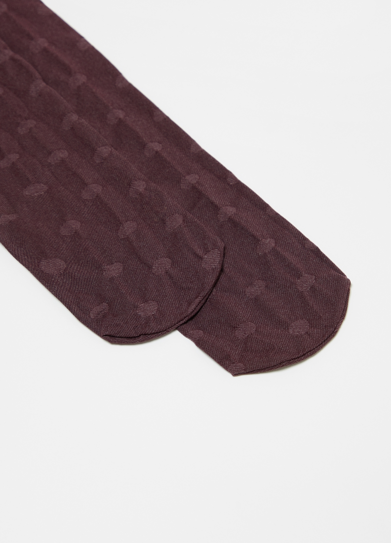 Collant jacquard a pois image number null