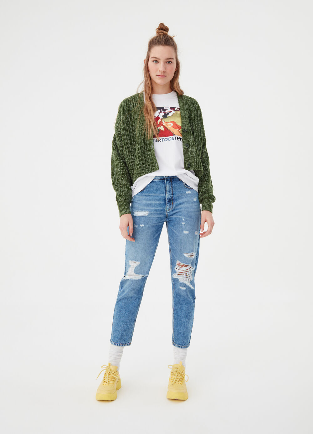 Heritage-look boyfriend jeans in pure BCI