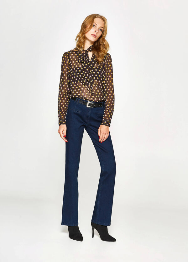 Solid colour stretch jeans | OVS