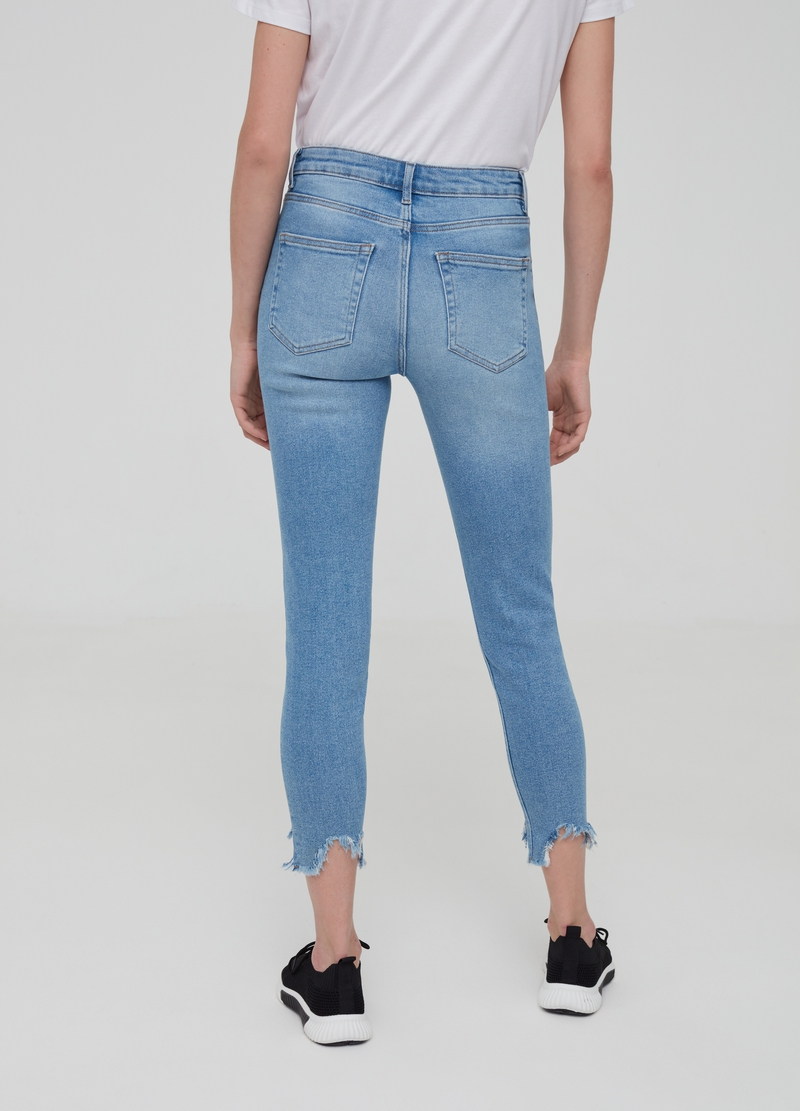 Jeans super skinny fit con bottoni image number null