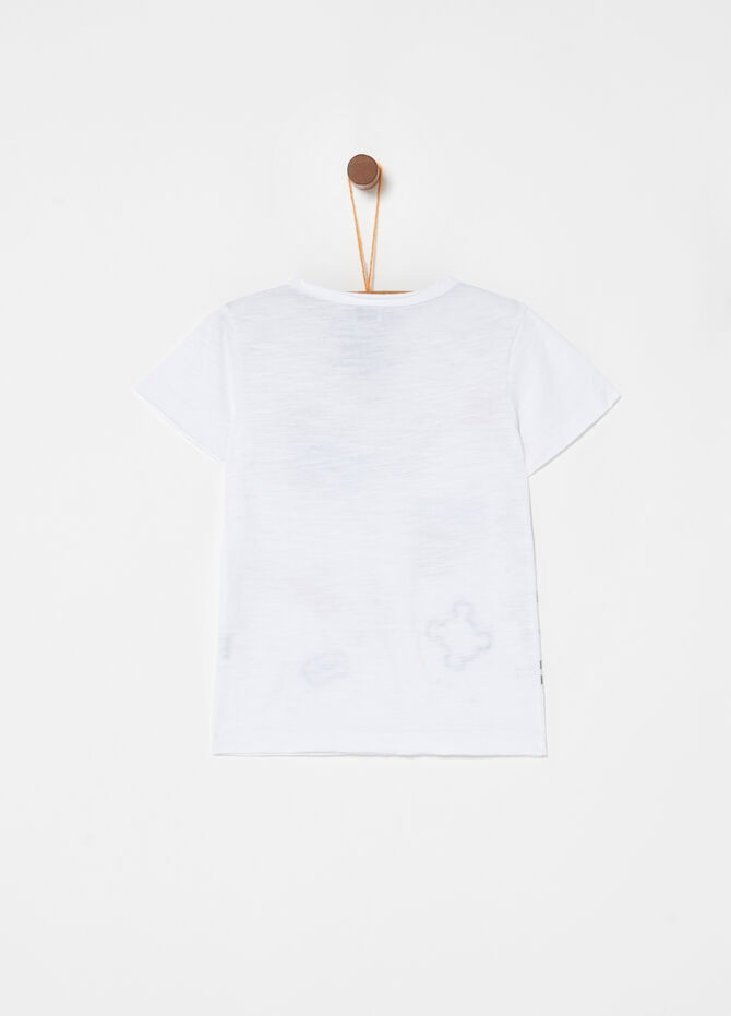 100% organic cotton T-shirt with dinosaurs