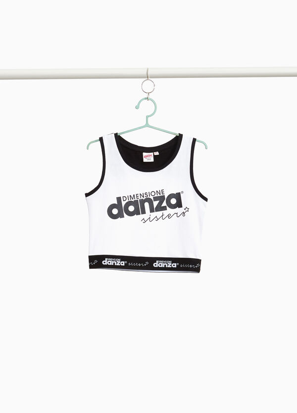 Dimensione Danza stretch crop top