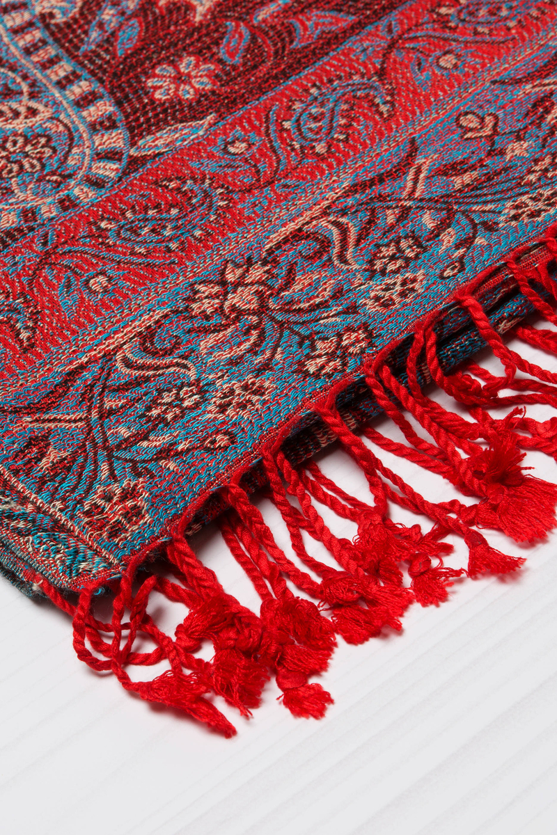 100% viscose scarf with jacquard design image number null