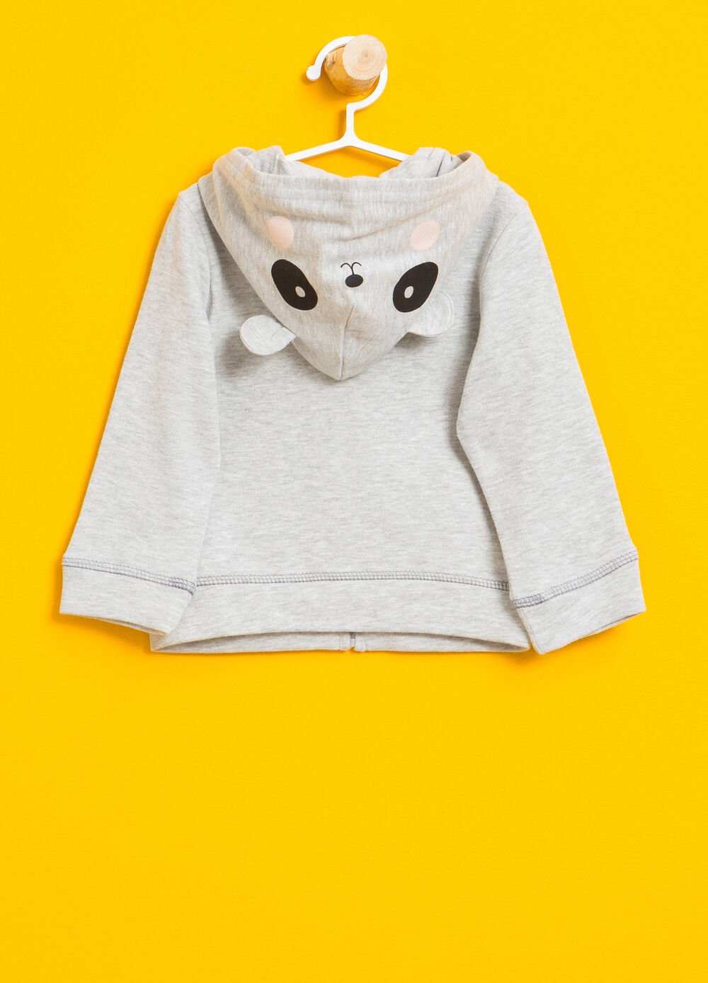 Sweatshirt with diamantés and animal patches