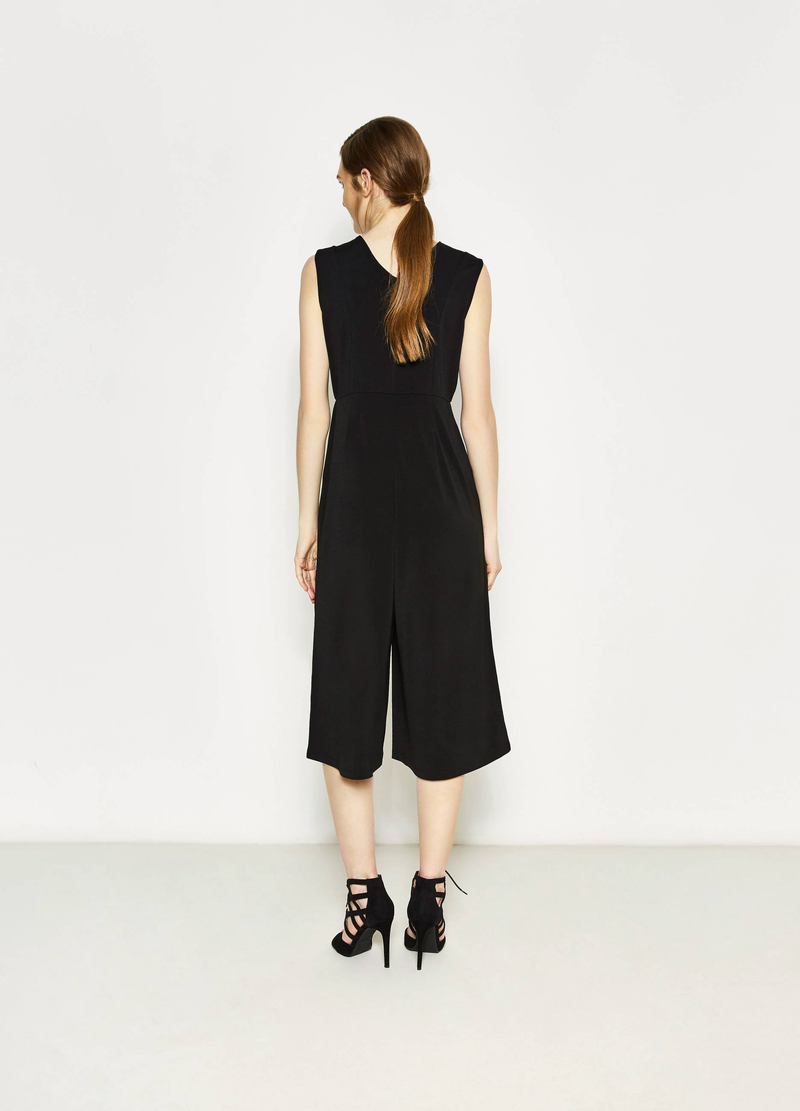 Sleeveless stretch playsuit image number null