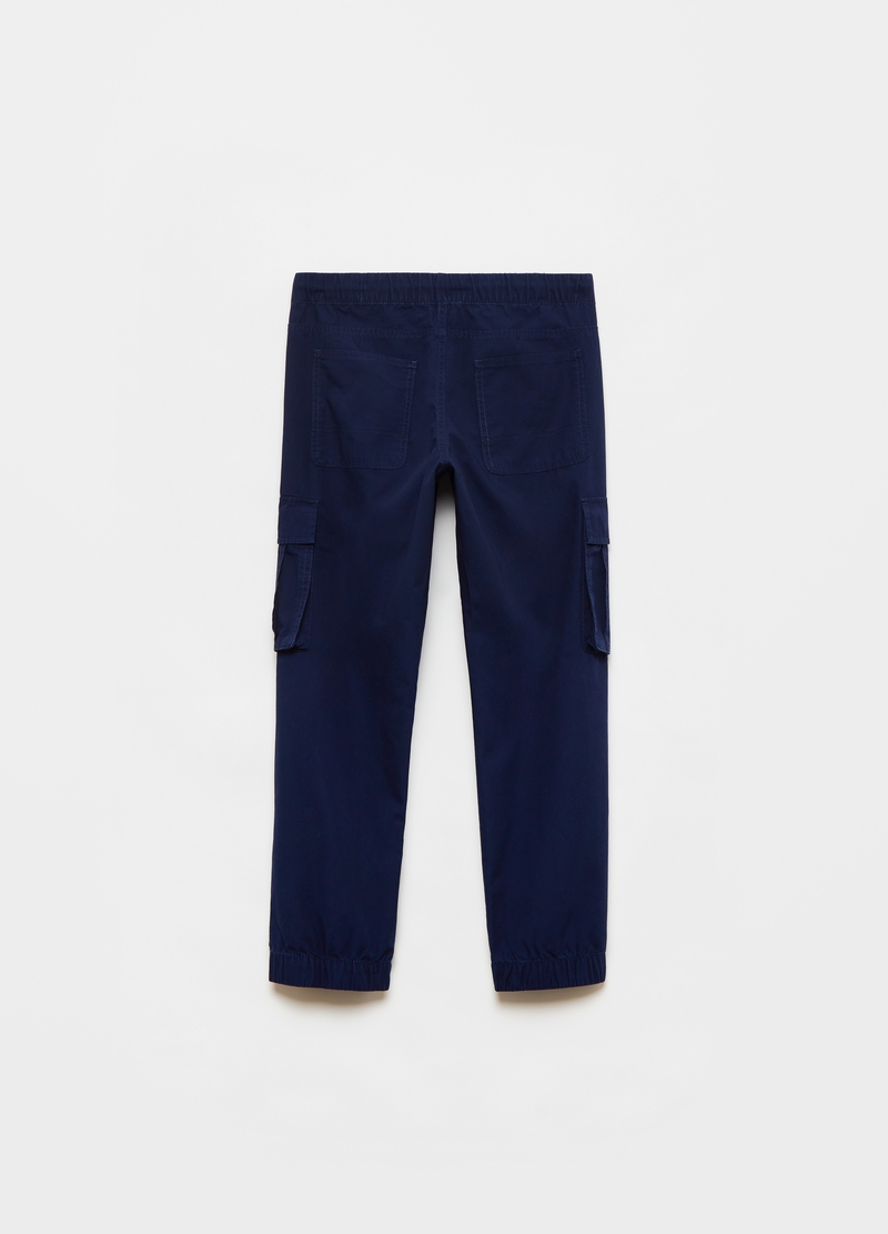 Cotton cargo trousers with drawstring image number null