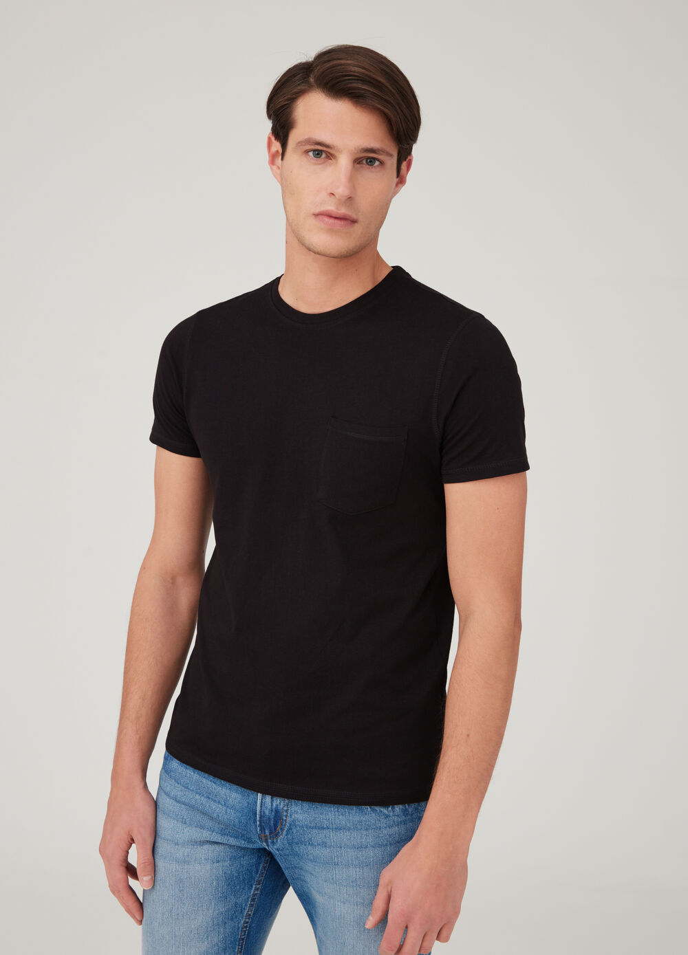 T-shirt biocotton con taschino