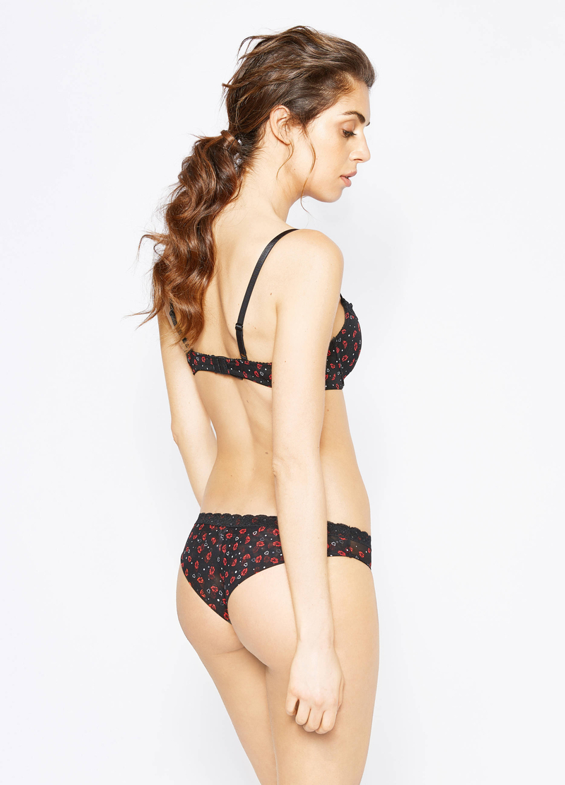 Stretch patterned Brazilian briefs image number null
