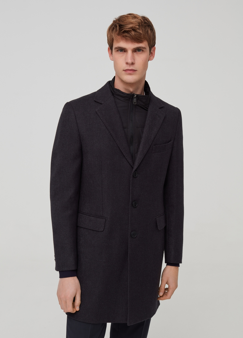 Coat with removable padding image number null