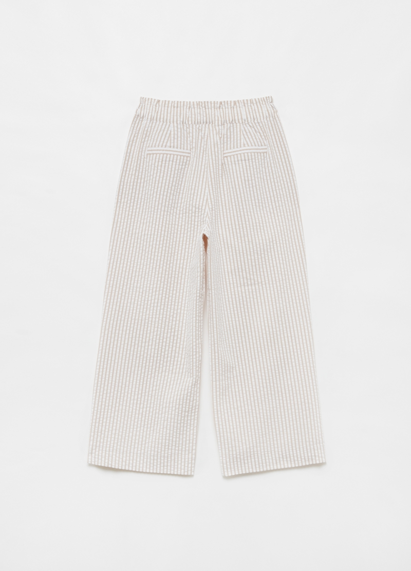 Wide-fit stretch striped trousers image number null