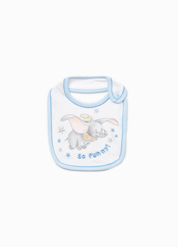 100% cotton bib with Dumbo print
