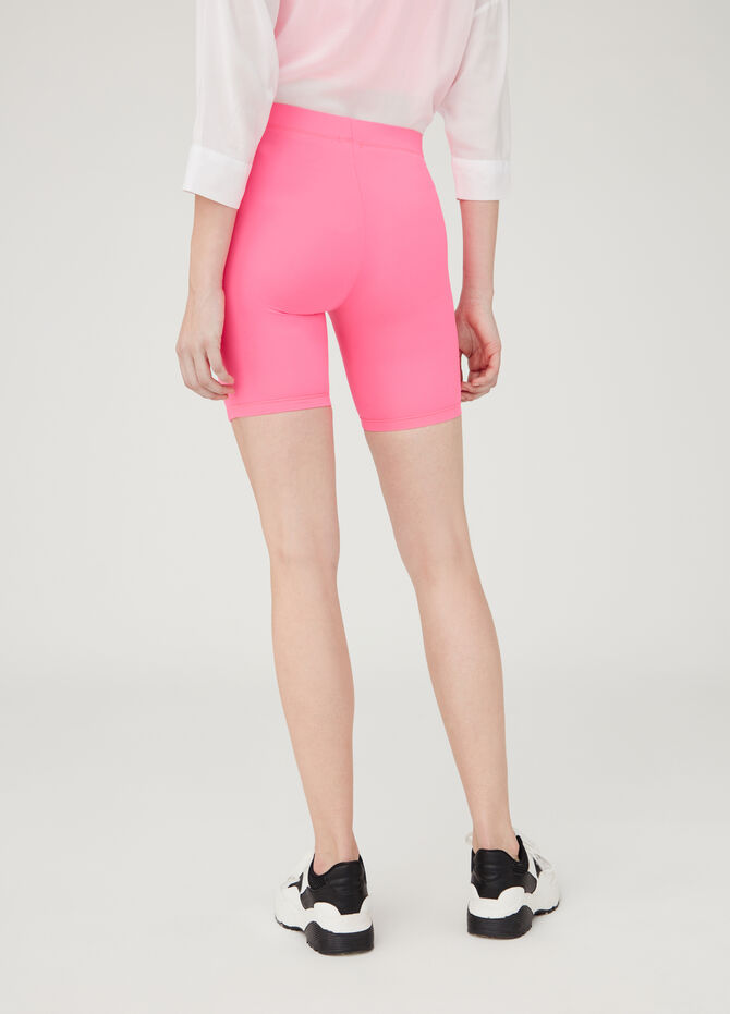 Solid colour short stretch leggings