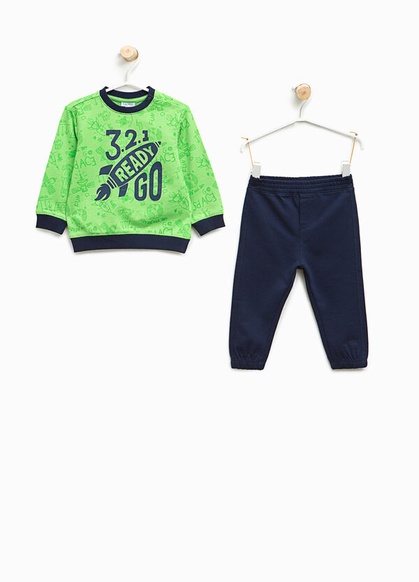 Tracksuit in cotton with pattern and print | OVS