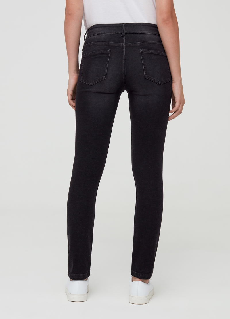 Slim-fit jeans with five pockets in cotton and viscose image number null