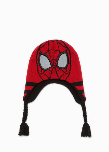 Cappello a cuffia Spiderman tricot