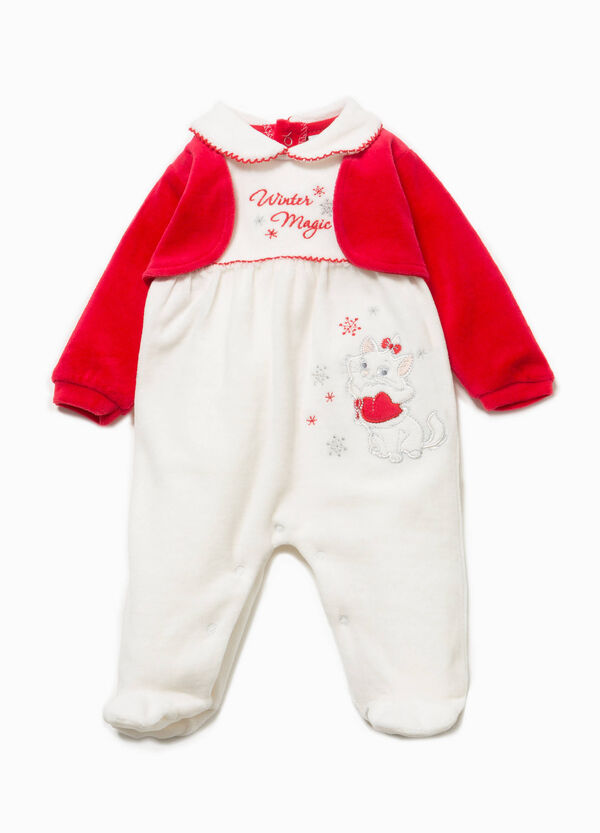 Onesie with embroidery and The Aristocats patch