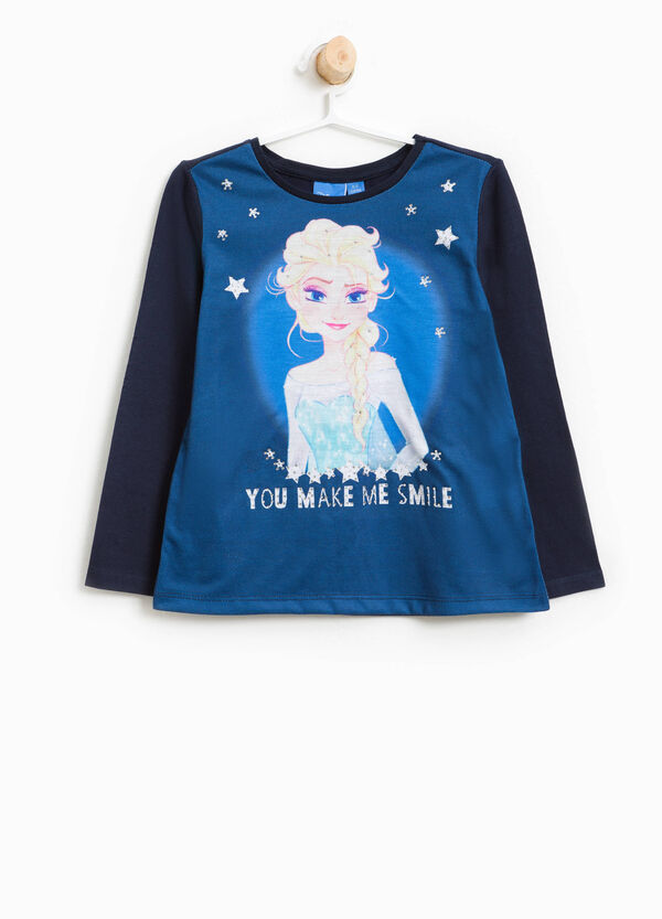 Cotton Frozen T-shirt with diamantés | OVS