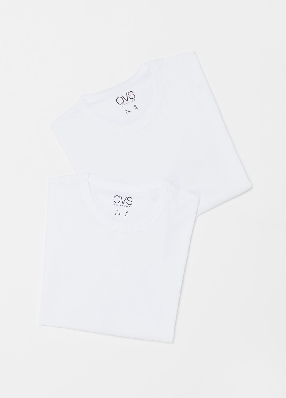 Two-pack undershirts with round neckline