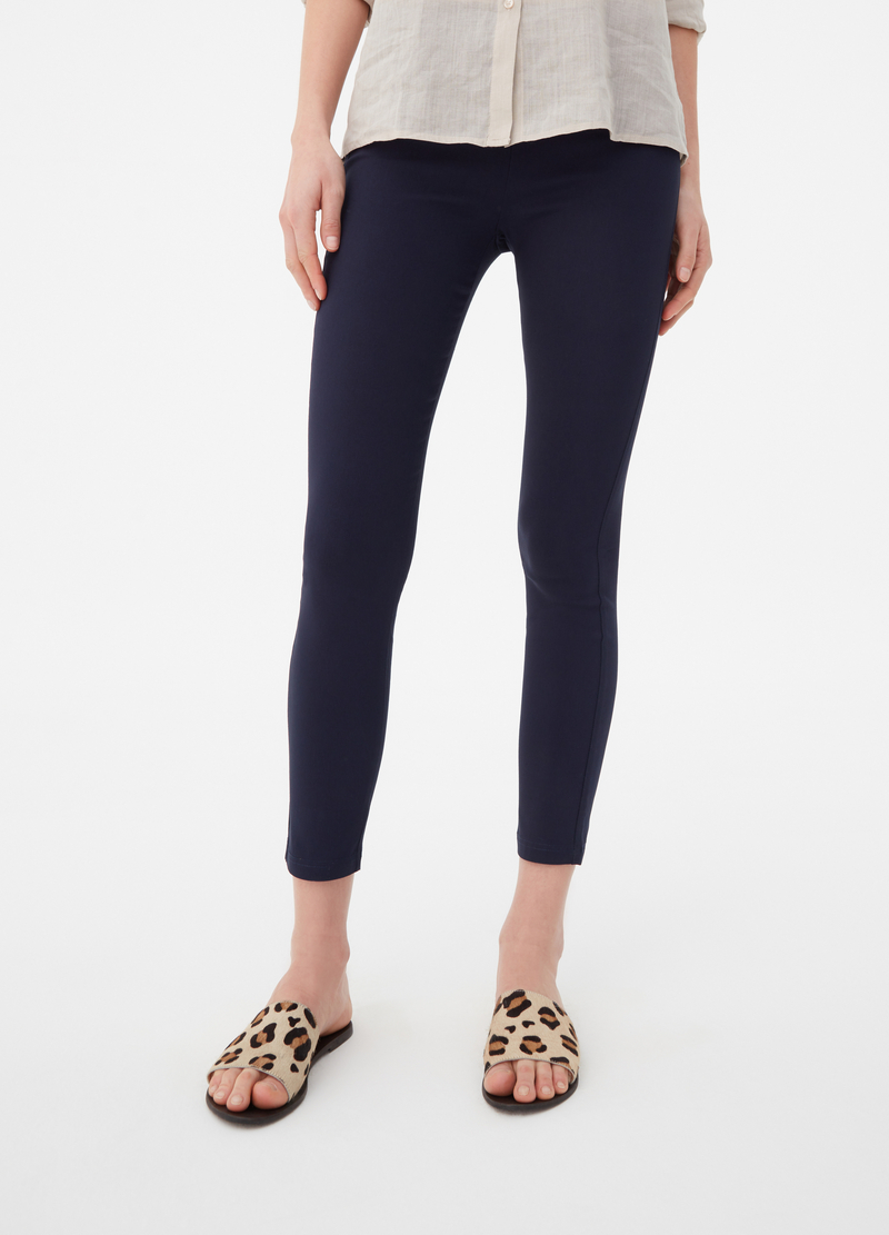 Solid colour bengaline stretch treggings image number null