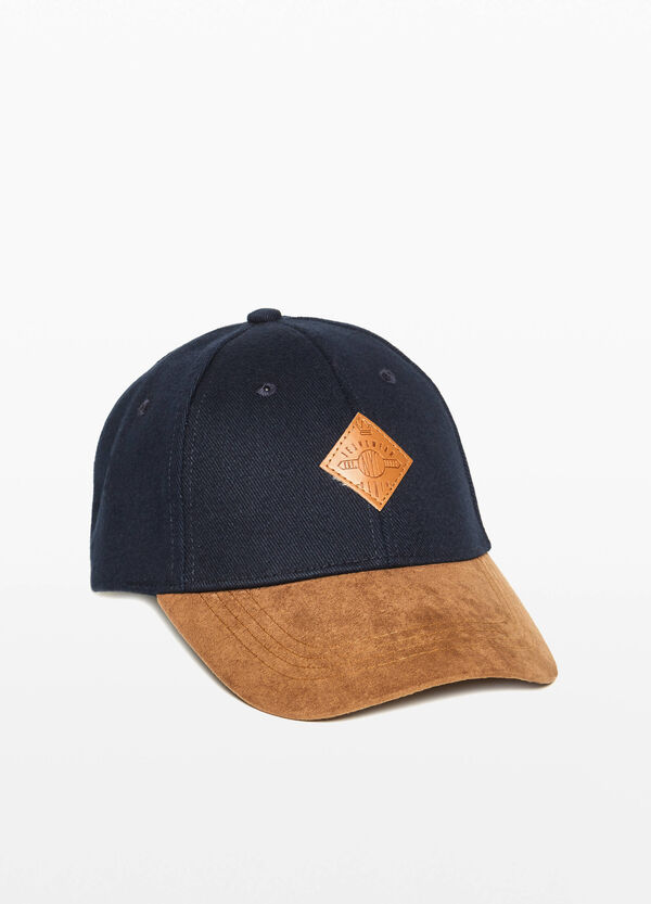 Cotton baseball cap with patches
