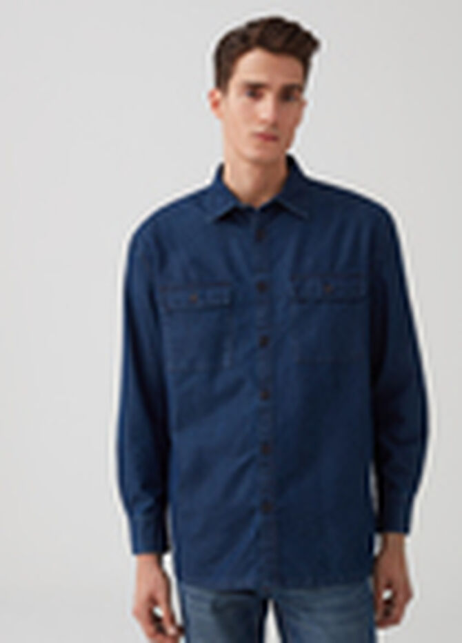 Giacca camicia comfort fit in denim