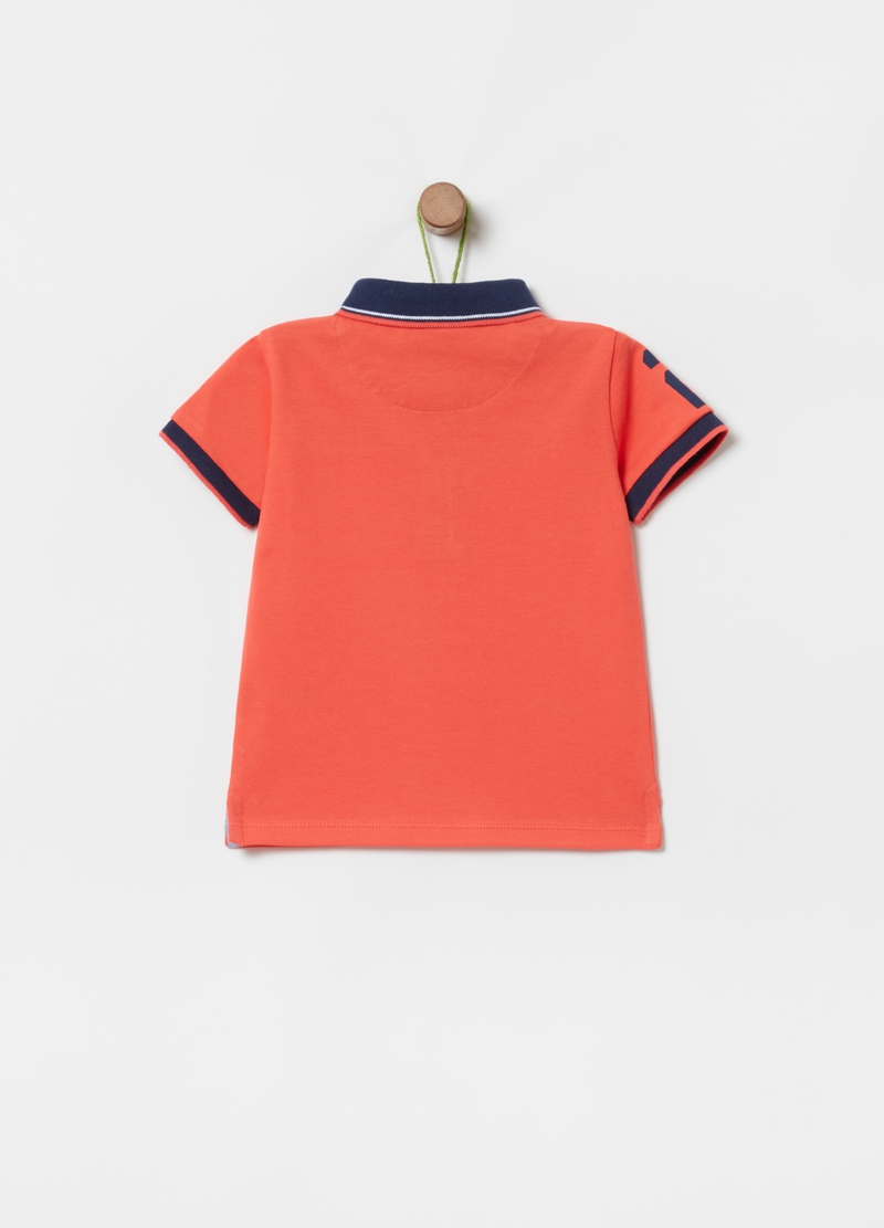 Organic cotton polo shirt with pocket image number null
