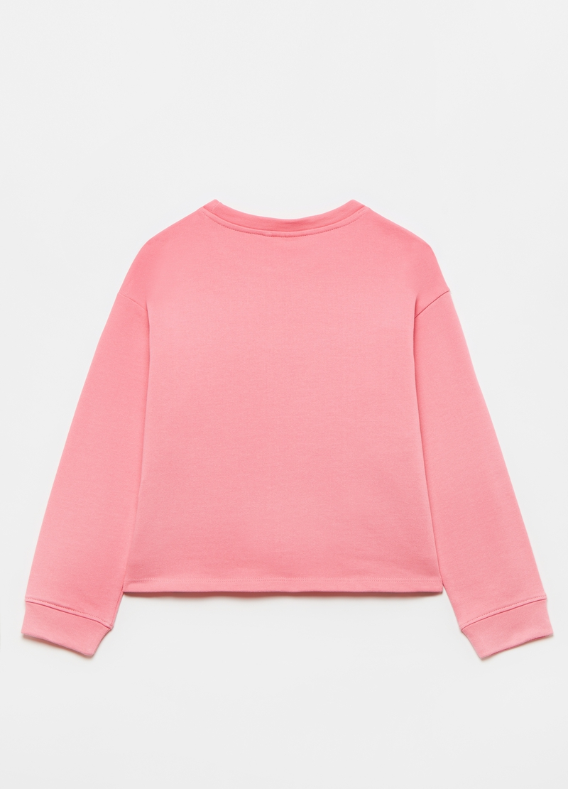 Sweatshirt in French terry with fringing image number null