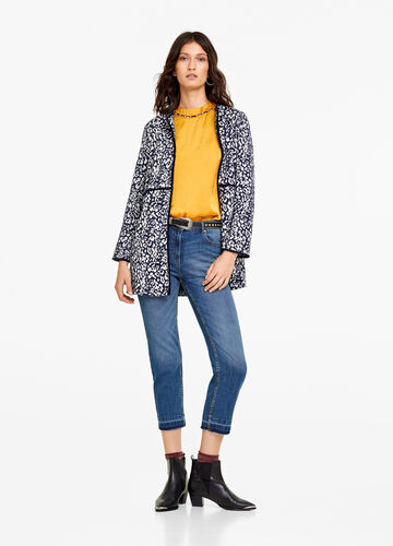 Cappotto stretch animalier