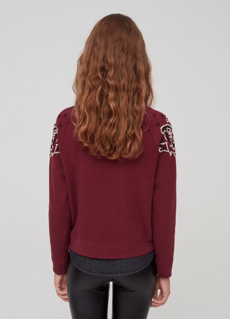 Sweatshirt with raglan sleeves and paisley embroidery image number null