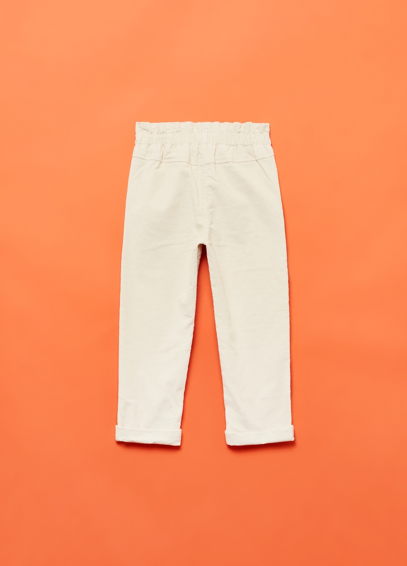 Stretch corduroy trousers with pockets image number null