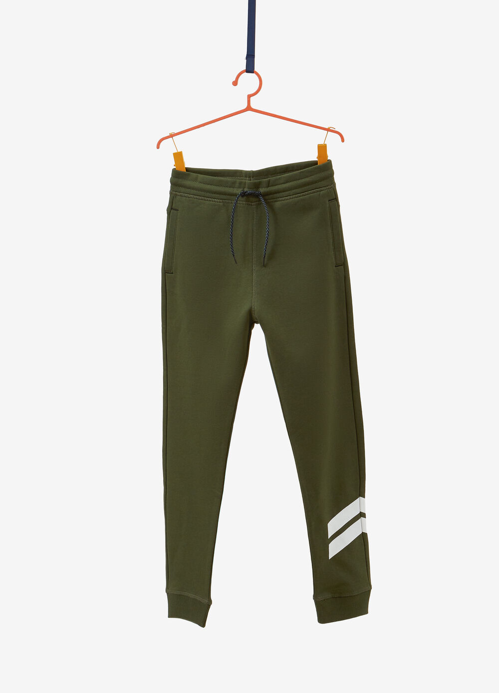 Cotton blend trousers with drawstring