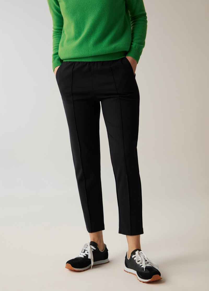 PIOMBO comfort fit trousers image number null