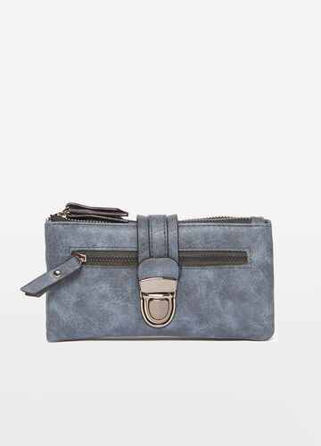 Textured-effect purse with compartments