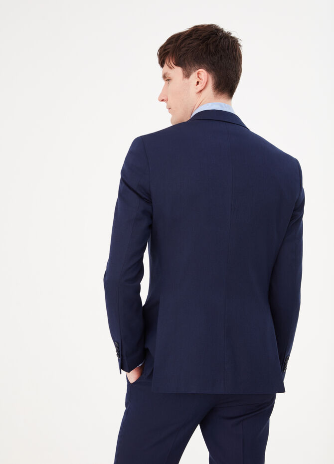 Slim-fit stretch blazer with two buttons