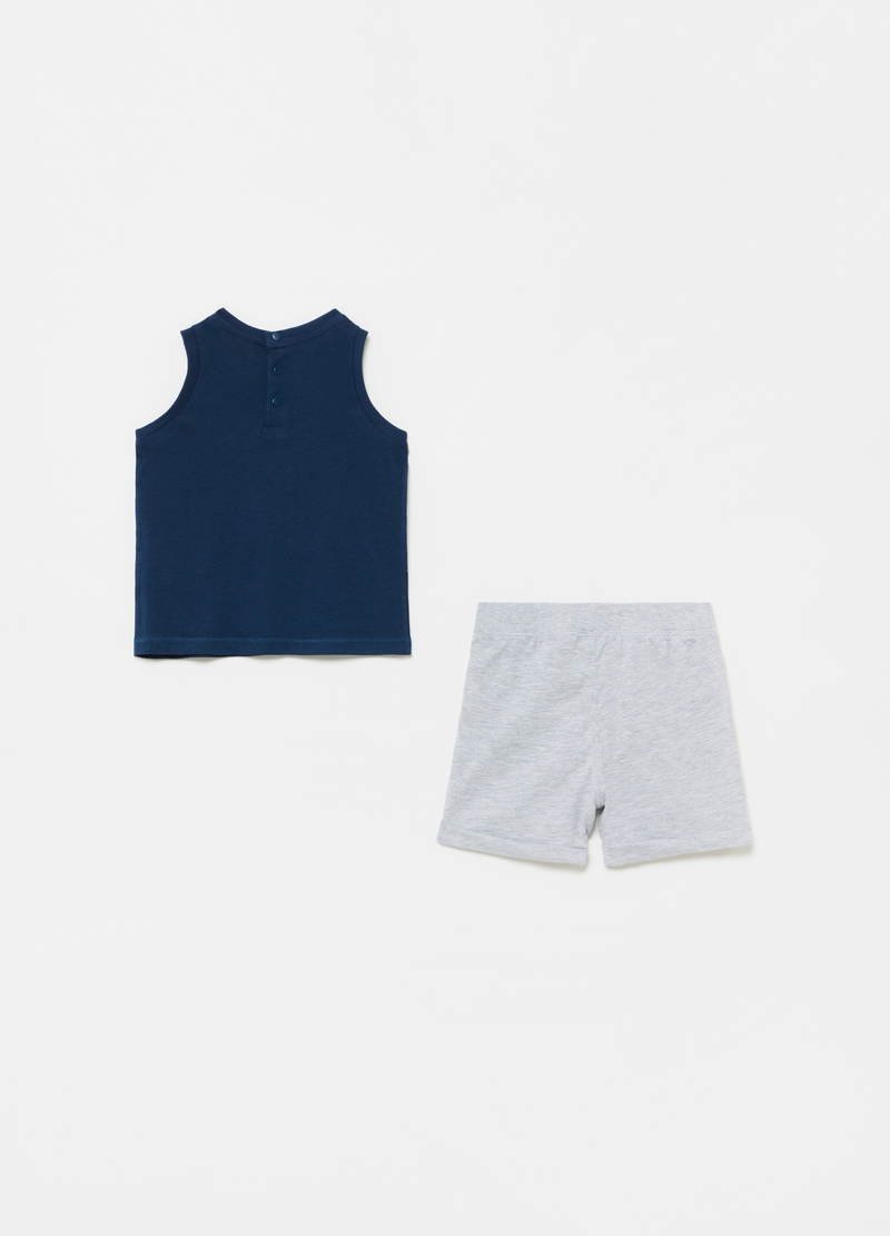 Jogging set with tank top and shorts with print image number null