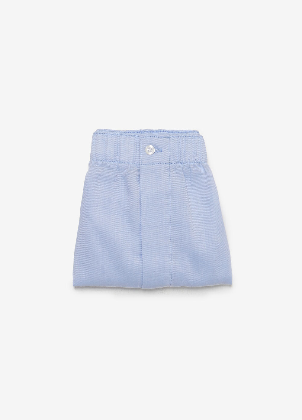 Cotton blend canvas boxers with elasticated waistband