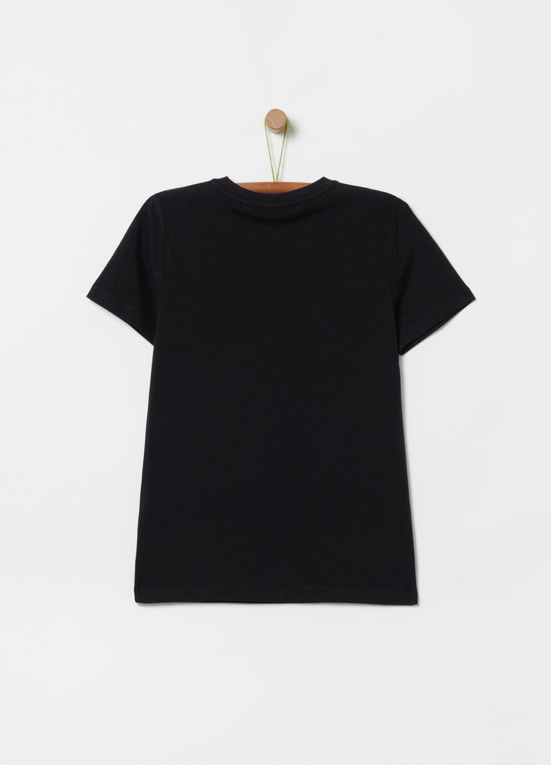 T-shirt in 100% organic cotton with round neck image number null