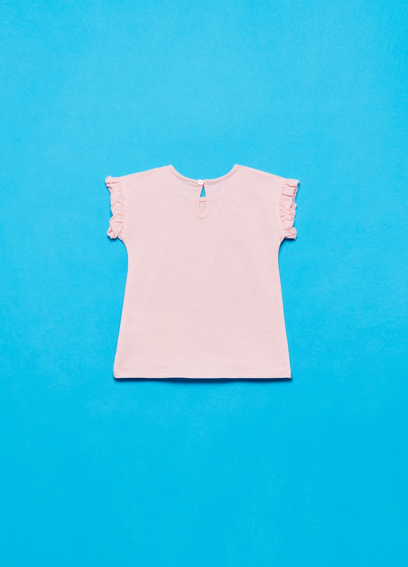 Sleeveless T-shirt with frills image number null