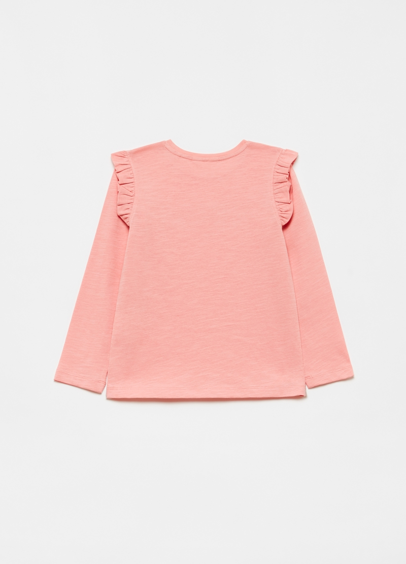 T-shirt in 100% cotton with frills image number null