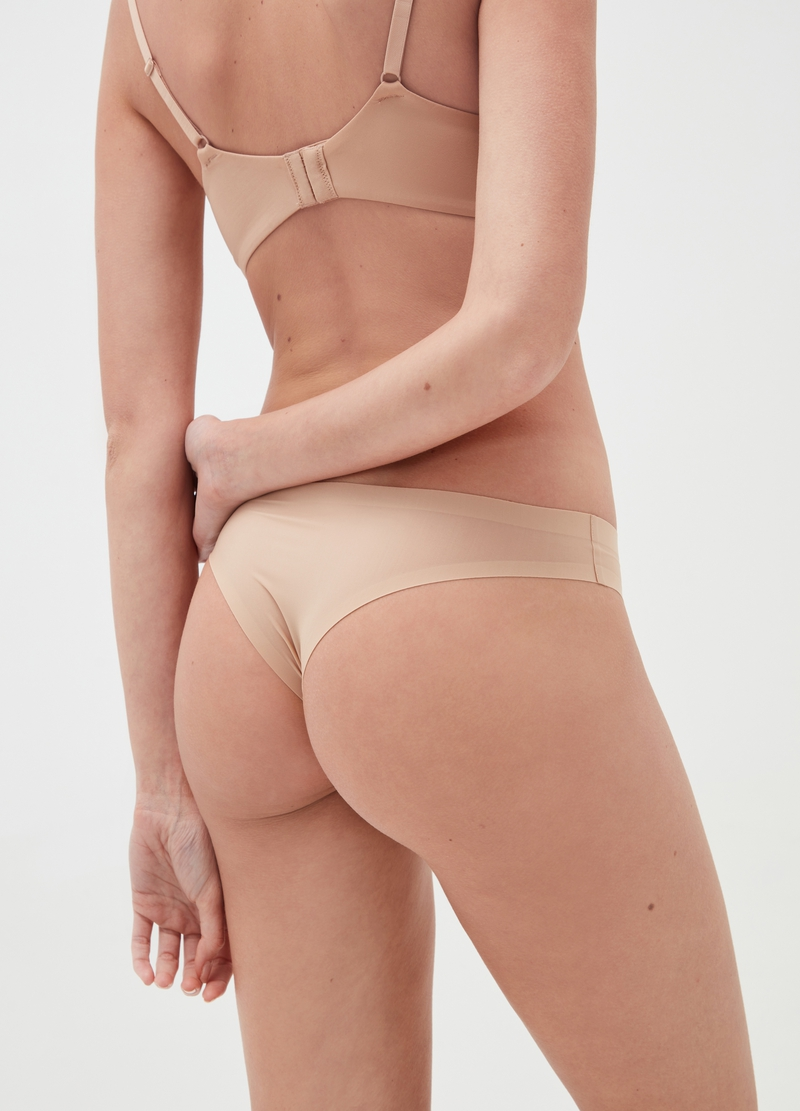 The Nude Effect Brazilian-cut briefs in microfibre image number null