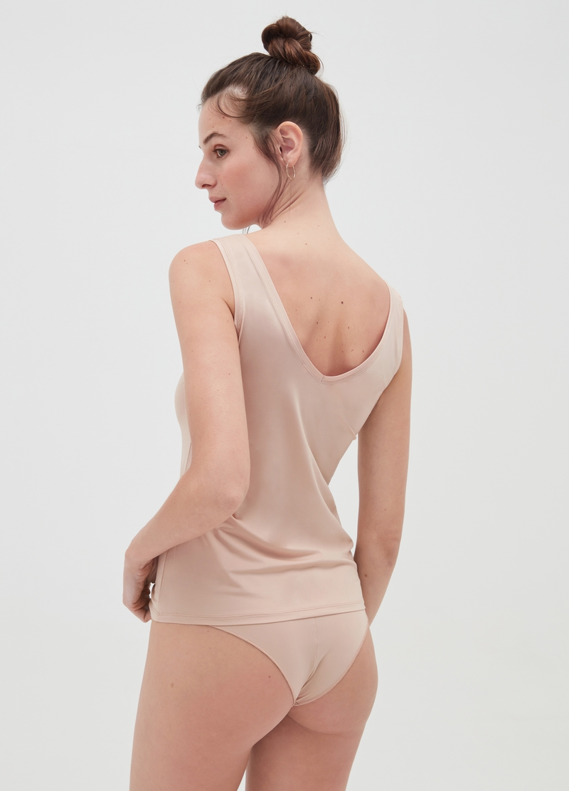 Microfibre vest with wide straps image number null
