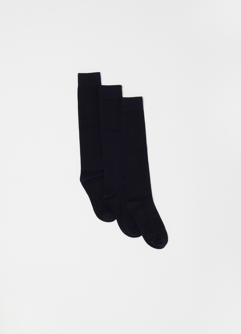 Three-pack long socks in warm cotton image number null